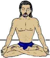 Meditation using padmasana